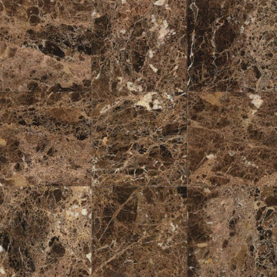Emperador Dark Spanish Marble 18x18 Polished Tile