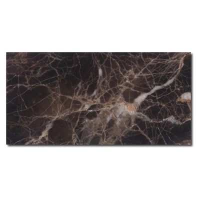 Emperador Dark Spanish Marble 3x6 Polished Tile