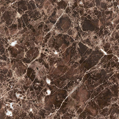 Emperador Dark Spanish Marble 4x4 Polished Tile