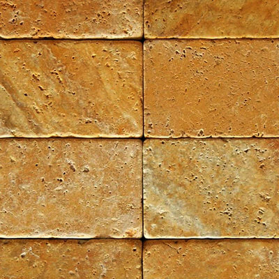 Gold Travertine 3x6 Tumbled Tile