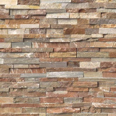 Golden White 6x24 Stacked Stone Ledger Panel