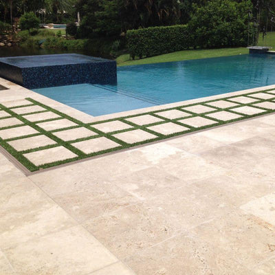 Ivory Travertine 24x24 Tumbled Paver