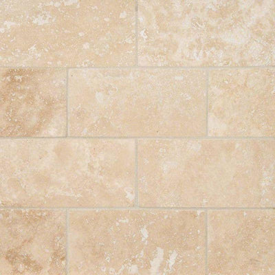 Ivory Travertine 2x4 Filled and Honed Mosaic Tile