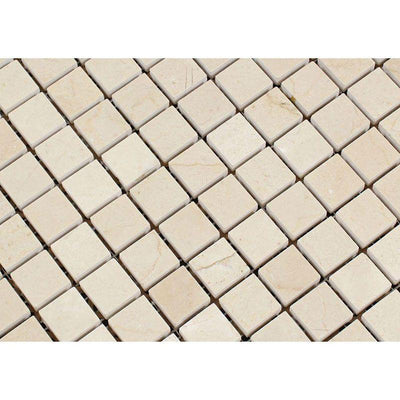 Crema Marfil Marble 1x1 Honed Mosaic Tile