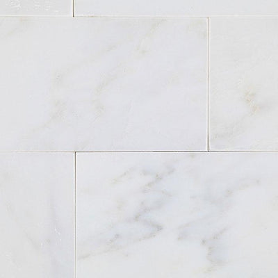 Asian Statuary (Oriental White) Marble 3x6 Polished Tile