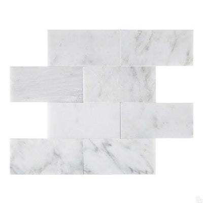 Asian Statuary (Oriental White) Marble 3x6 Honed Tile