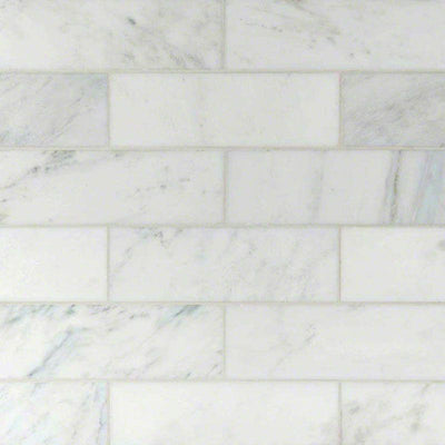 Asian Statuary (Oriental White) Marble 4x12 Polished Tile