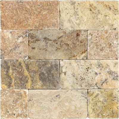 Scabos Travertine 3x6 Tumbled Tile