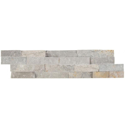 Silver Sunset 6x24 Stacked Stone Ledger Panel