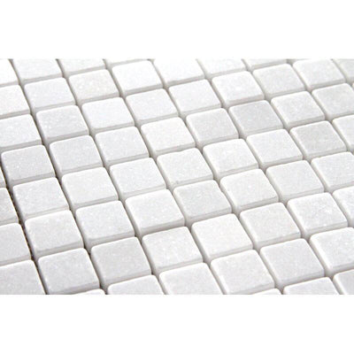Thassos White Marble 5/8x5/8 Polished Mosaic Tile