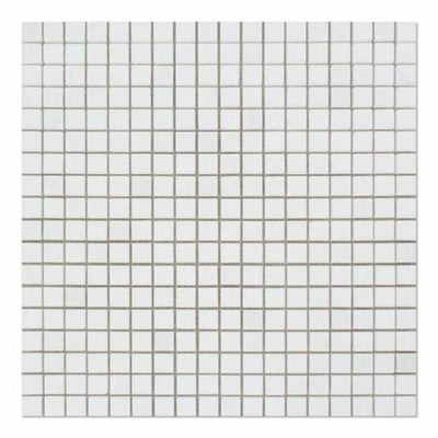 Thassos White Marble 5/8x5/8 Honed Mosaic Tile