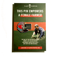 Female Farmer Pin