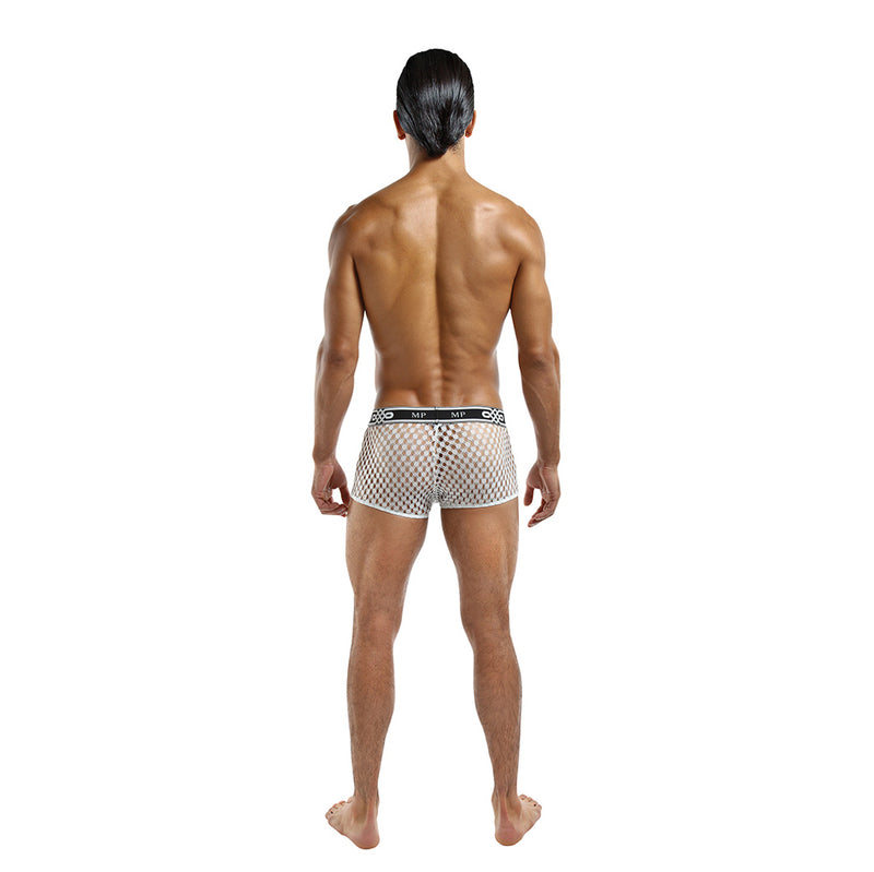 Male Power Peep Show Mini Short White