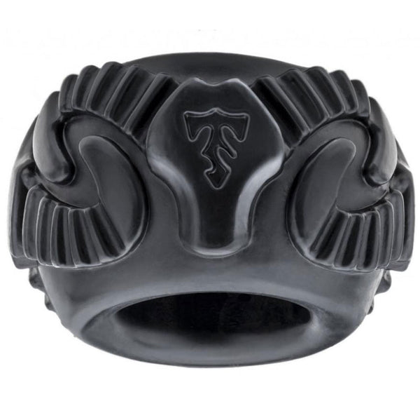 Perfect Fit Tribal Son Ram Ring Black