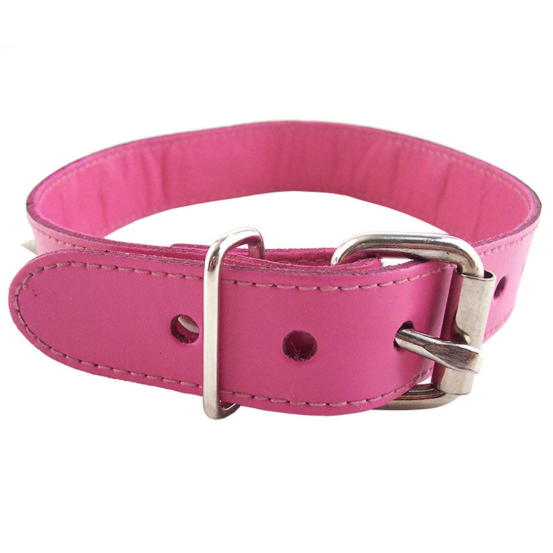 Rouge Garments Pink Studded ORing Studded Collar