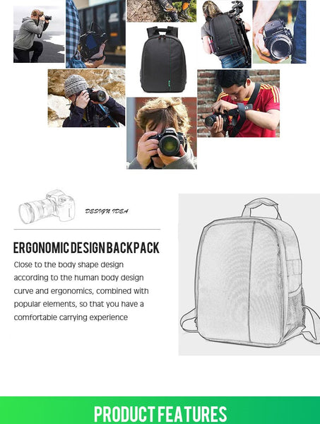 Backpack For Nikon Canon Sony