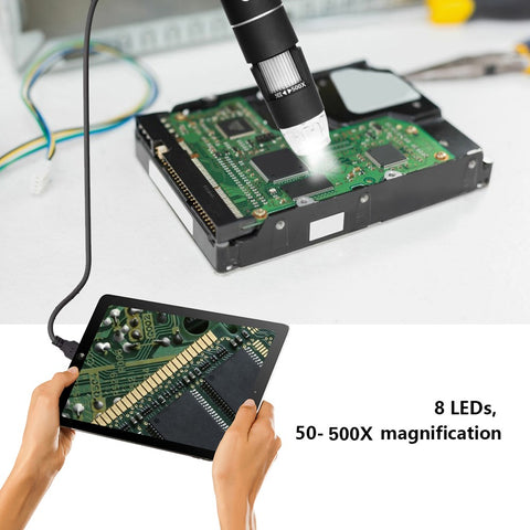 Magnifies objects up to 1000