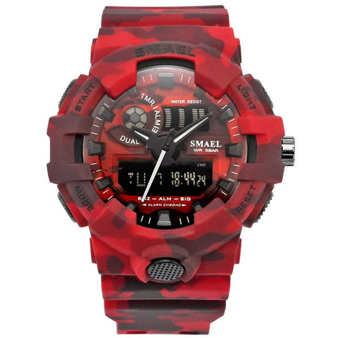 Camouflage Militray Dual Watch For Men