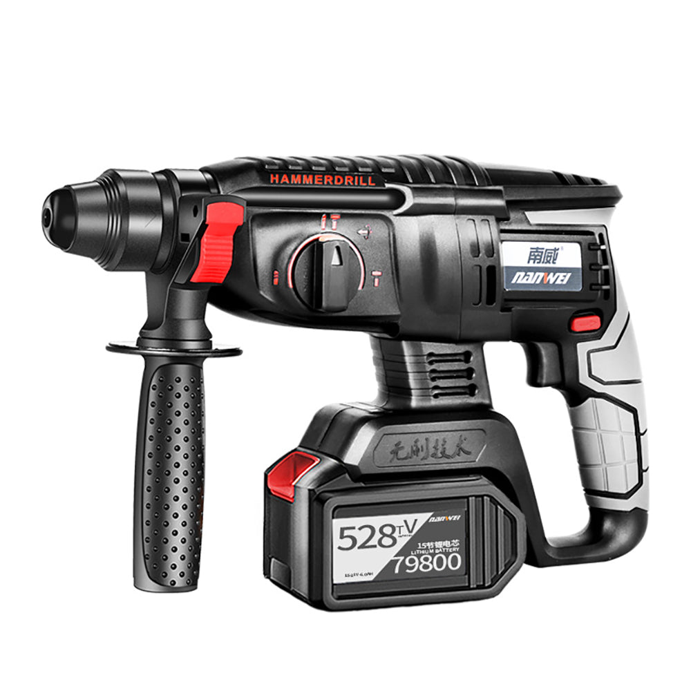 21V NANWEI Power Drills Electric Cordless Drill 3 in 1 Electric Drill Hammer Picker  Brushless Impact 2 Batteries