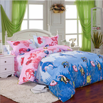 cozyrex,3 Or 4pcs Cotton Blend Mix Patterns Paint Printing Bedding Sets Twin Full Queen Size,CozyRex,
