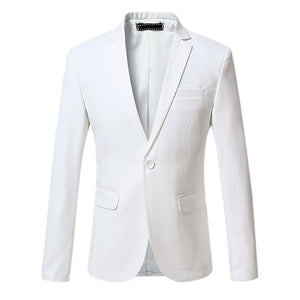 Spring Autumn Casual Business Suits Slim Fit Fashion Solid Color Men Blazers Plus Size S-4XL