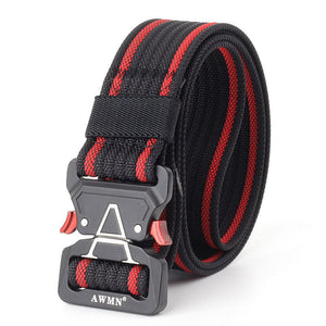 cozyrex,125cm AWMN S05-3 3.8cm Tactical Belt Inserting Quick Release Quick Release Buckle Military Fan Hunting Nylon Belts,CozyRex,