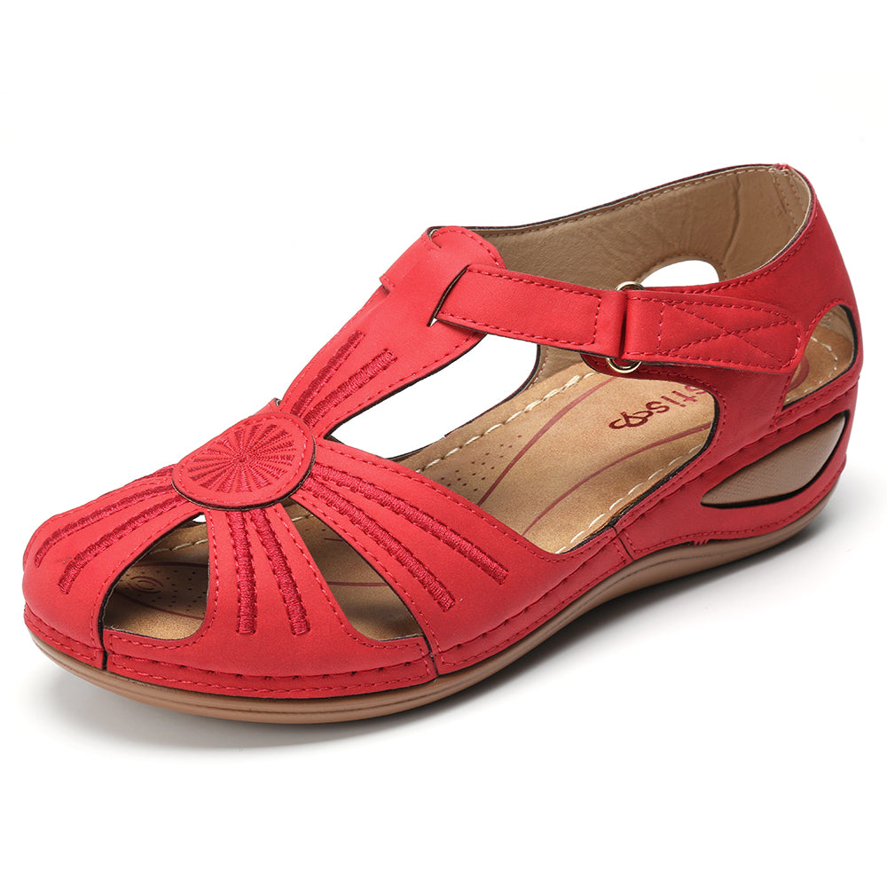 cozyrex,LOSTISY Women Wedges Shoes Splicing Casual Comfy Sandals,CozyRex,