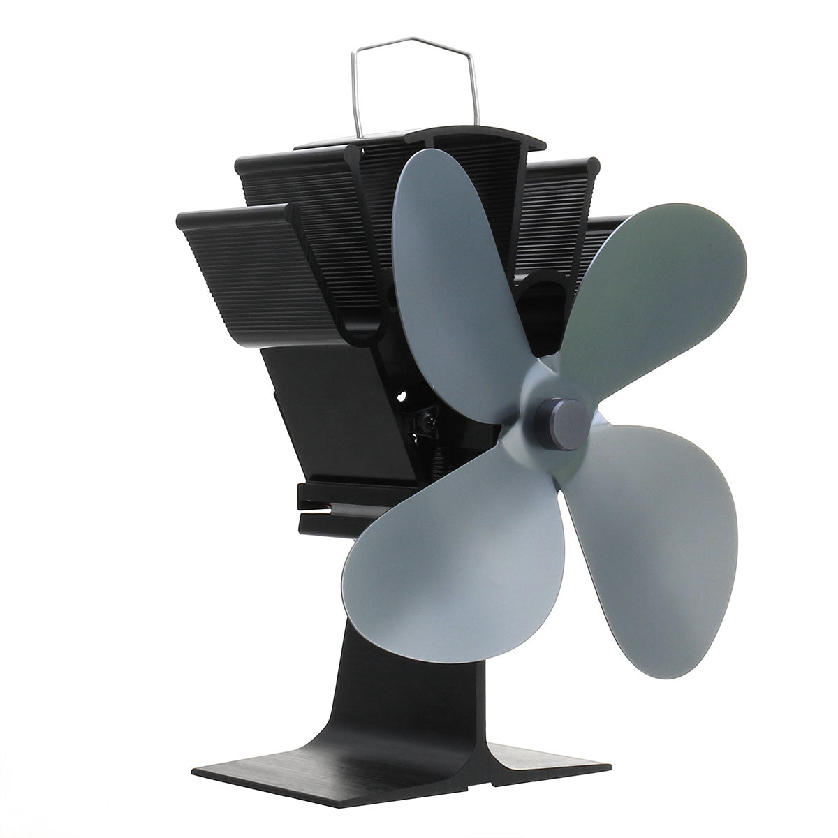 cozyrex,4 Blades Fireplace Fan Thermal Heat Power Stove Wood Burner Fan,CozyRex,