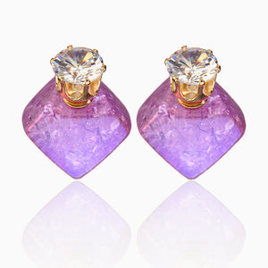 cozyrex,Zircon Crystal Ear Stud Diamond Smooth Earrings,CozyRex,