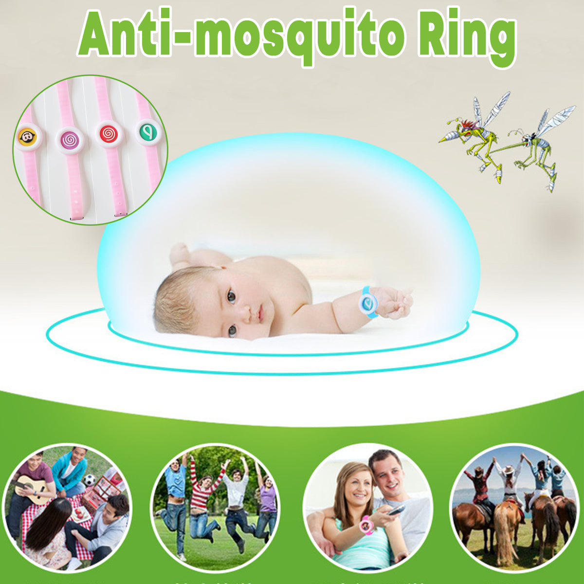 cozyrex,Anti-mosquito Hand Watch Ring Repellent Bracelets Cartoon Wr,CozyRex,