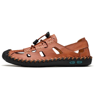 Genuine Leather Hand Stitching Outdoor Sandals