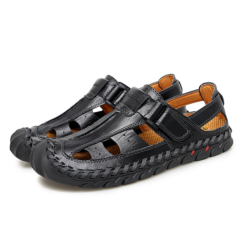 Men Hook&Loop Stitching Casual Sandals