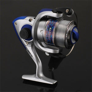 cozyrex,SL1000-7000 Spinning Fishing Reel Metal Spool Folding Arm Gear Ratio 5.5:1,CozyRex,