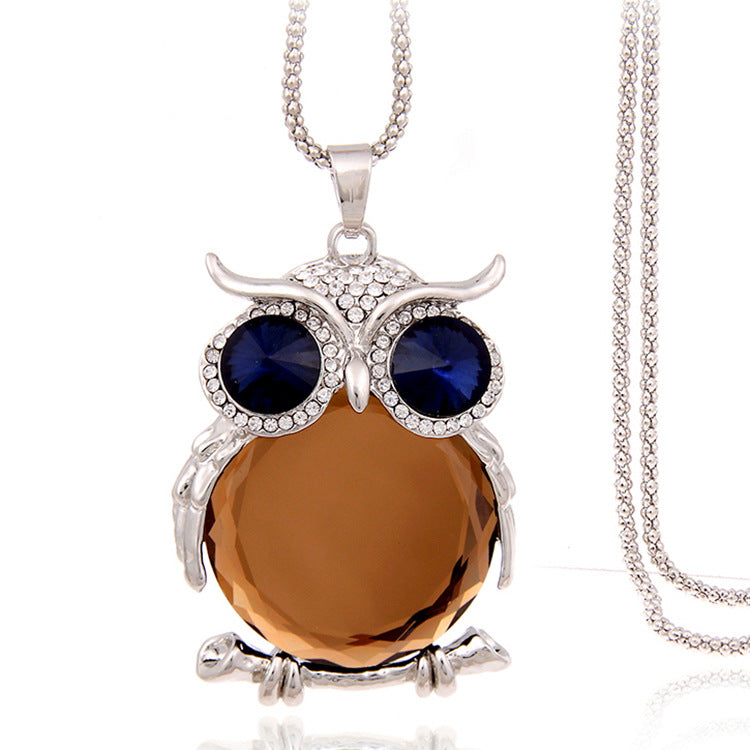 cozyrex,Cute Pendant Necklace Rhinestone Colorful Animals Night,CozyRex,