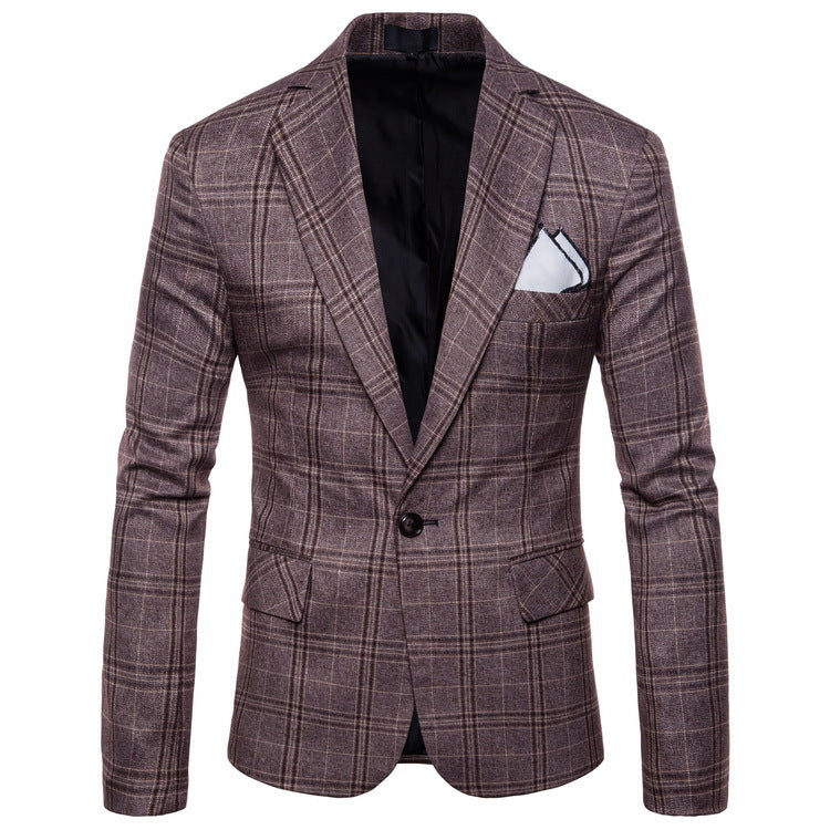 Mens Business Plaid Suits