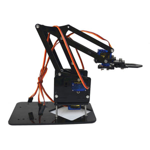 cozyrex,4DOF Assembling Acrylic Mechine Robot Arm with SG90 Plastic Gear Servo For Robot DIY,CozyRex,