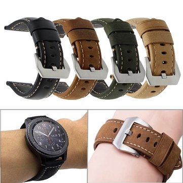 cozyrex,22mm PU Leather Matte Horse Texture Watch Strap Band For Samsung Gear S3 Classic/Frontier,CozyRex,Samsung Gear Accessories