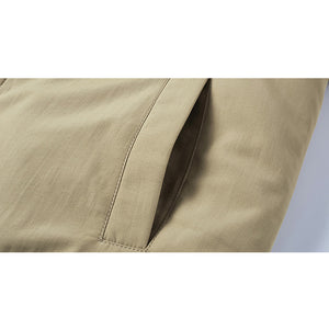 Mens Casual Barber Fleece Turn Down Collar Thickened Jacket