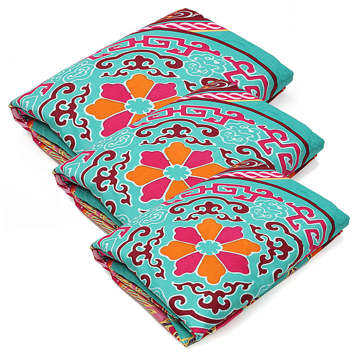 cozyrex,4Pcs Oriental Mandala Polyester Single Double Queen Size Bedding Pillowcases Quilt Duvet Cover Set,CozyRex,