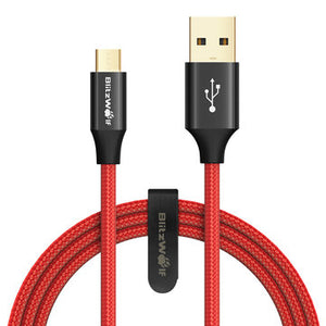 cozyrex,BlitzWolf® AmpCore Turbo BW-MC7 2.4A Braided Durable Micro USB Charging Data Cable 3ft/0.9m,CozyRex,Cables