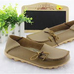 cozyrex,LOSTISY Breathable Casual Leather Flats Shoes,CozyRex,