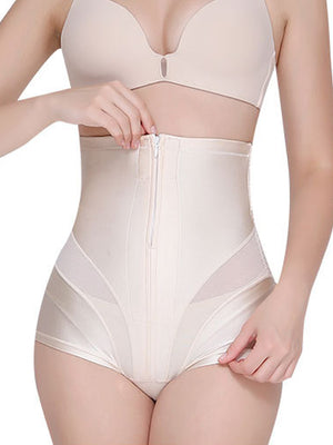 cozyrex,Front Zipper Seamless High Waist Shaping Panties,CozyRex,