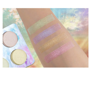 cozyrex,4 Colors Highlight Shimmer Glitter Eye Shadow Palette,CozyRex,