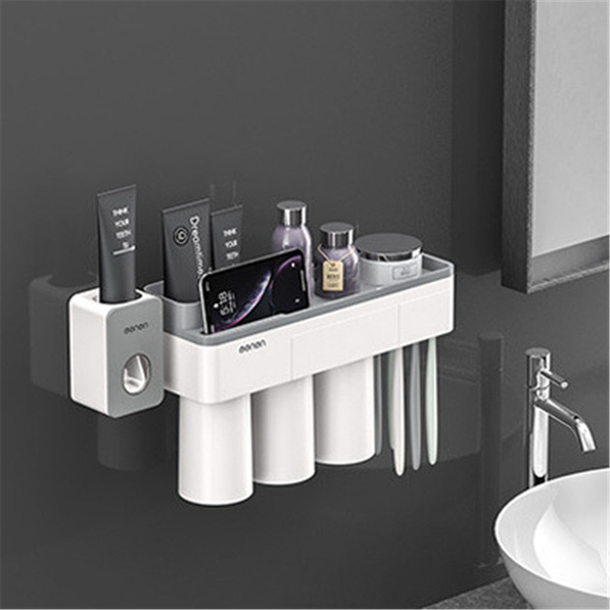 cozyrex,Mutifunctional Magnetic Toothbrush Holder,CozyRex,