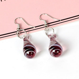 cozyrex,Spiral Flower Colored Glaze Drop Piercing Earring,CozyRex,