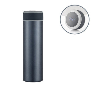 500ml LCD Temperature Display Water Bottle Stainless Steel Vacuum Thermos Insulated Cup