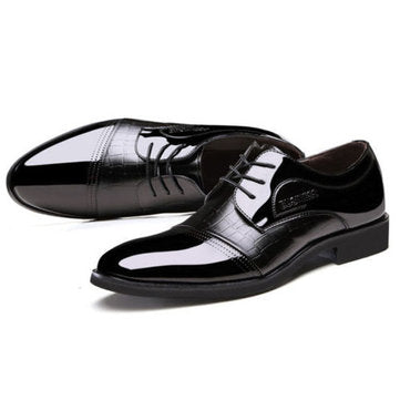 cozyrex,Men Lace Up Artificial Leather Formal Shoes Soft Sole Business Shoes,CozyRex,Formal Shoes