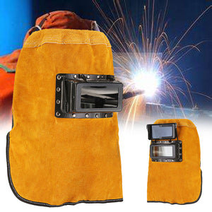 cozyrex,Leather Hood Welding Helmet Mask Darkening Filter Lens Welder Eyes Protection,CozyRex,