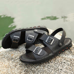 Men Comfy Breathable Genuine Leather Beach Sandals