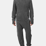 Men Flannel Thick Plain Onesies Loungewear Thermal Thumb Ho